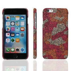 Latest Design Hot selling Camouflage Style PU Leather Cell Phone Case for iphone 6 plus