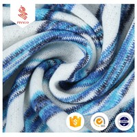 300gsm polyester rayon stripe white and blue yarn dye fabric