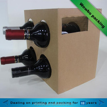 china alibaba luxury fashion folding corrugated cardboard wine gift box 4 pack bottle carrier