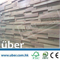 Uber 3d indoor usage decorative wooden Wall panels