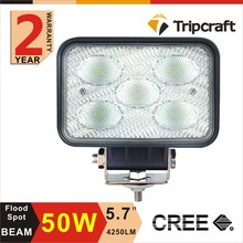 Super 4x4 Off road Lights 5.7'' 50W Rechargeable LED Work Light For Trucks SUV