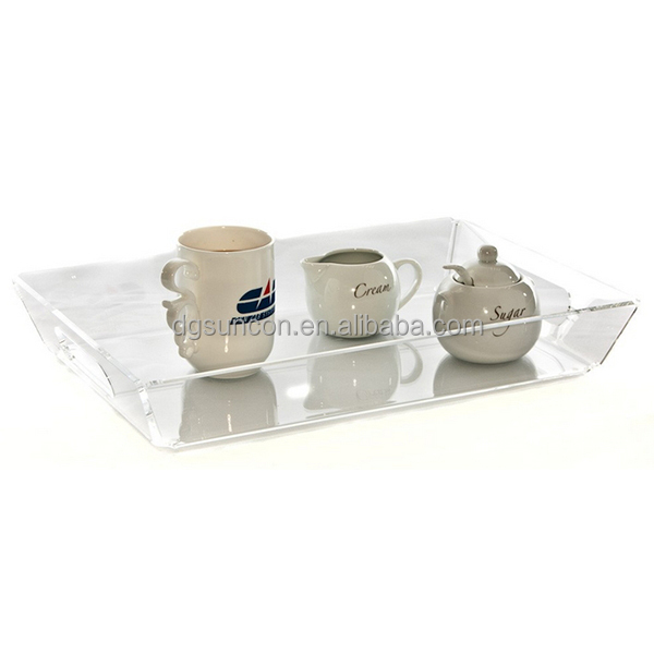 clear transparent acrylic fruit and cup plate