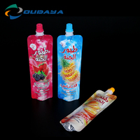New fruits and beverage packaging pouch with spout cap