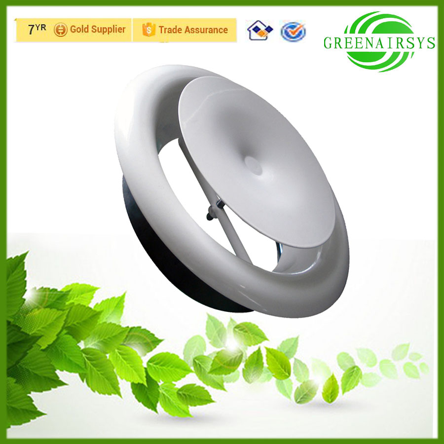 New Style Circular Ceiling Diffuser Adjustable Spiral Core Ceiling Air Vent