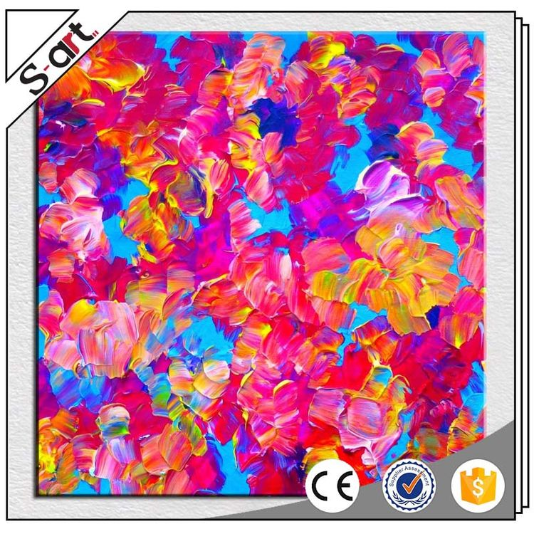 Promotional beautiful abstract flower vase oil painting