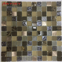italian mosaic tile glass mix color mosaic , 300*300mm moroccan mosaic tile