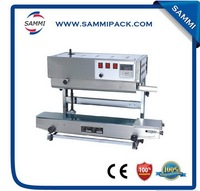 Hot sale continuous plastic bag PE plastic film heat sealing machine