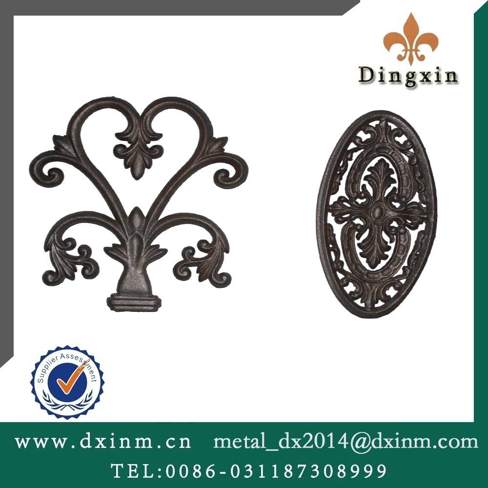 The high quality balcony steel grill designs wrought iron casting iron for sale