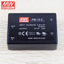 MeanWell Swithing Power Supply Medical Type AC/DC Module Encapsulated Type On Board Type 15W 5V Single Output PM-15-5