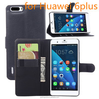 fip PU Leather Wallet Case For Huawei honor 6plus phone cover case