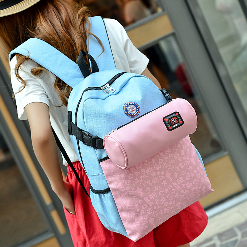 fashion cute japan and korean design cheap canvas backpack for teenage college