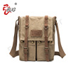 BSCI Promotional Hot Selling Fashion Vintage Canvas Shoulder Messenger Bag Men