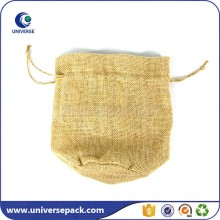 Personalized Natural Plain Drawstring Jute Sack Bag For Packing