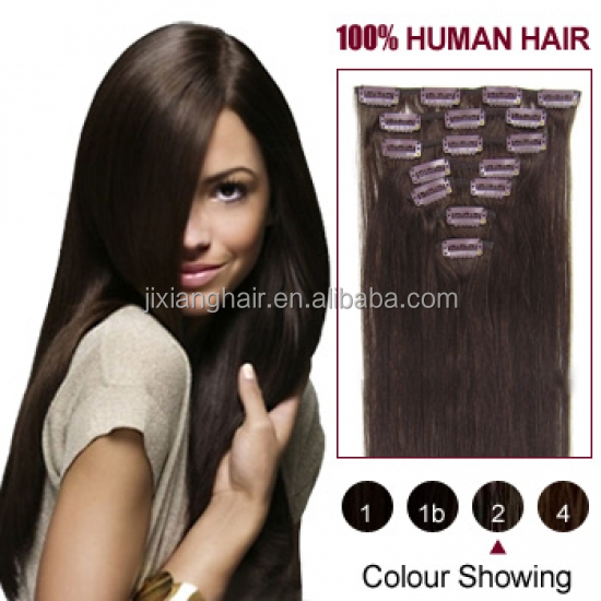 Wholesale price best quality alibaba ru unprocessed hair 100 human clip in hair extension