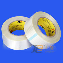 bi-directional filament tape JLW-302C reinforced with glass yarn filamnet on both directions for protection of cricket bats