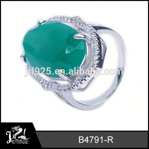 Delicate flower design 925 man ring big oval ring