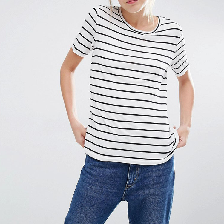 High Quality Clothing Manufacturers Ladies Cotton T Shirts Round Neck Plain Fast Dry Fitness Women's T-shirt