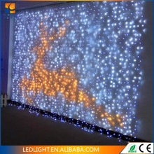 Waterproof connectable Christmas festival led curtain fairy string light indoor and outdoor decoration