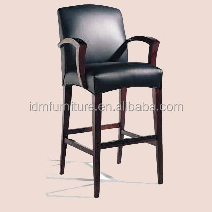 Wholesaler good quality hotel solid wooden bar chair <strong>furniture</strong> IDM-C007