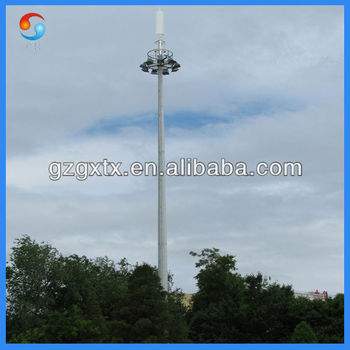2013 Beauty High Quality Hot-selling 10-65 Meters Round Galvanized Microwave Iron Communication Tower