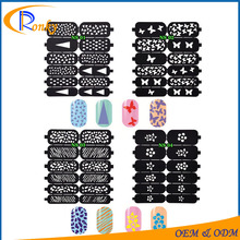 New nail vinyls stencil manicure stickers stamping for art design