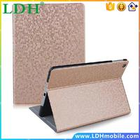 High Quality! Luxury Diamond Bling Sparking Pattern Book Slim Thin Leather Case For Ipad 5 Air Stand Function Cover FET03561