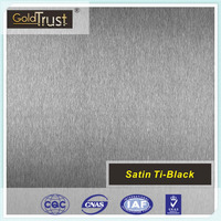 supply satin black stainless steel sheets for elevator building decoration and wall panels
