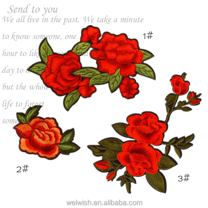 Lower MOQ Cheap Flower Embroidery Patch For Cloth