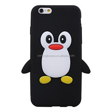 3D Cute Penguin Silicone Soft Case For iPhone 6