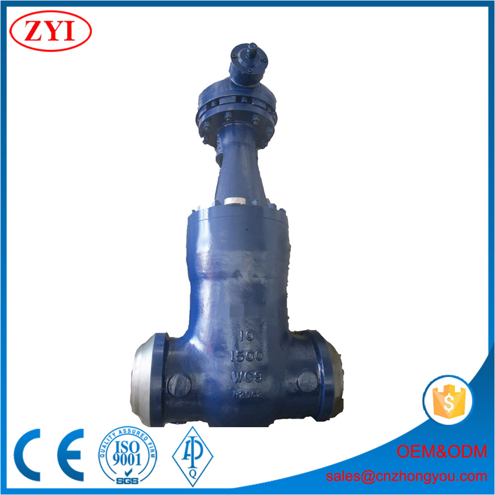 Double flanged industrial cast steel 100mm gate valve price