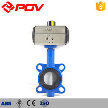 Soft sealing Factory Temperature control wafer pneumatic butterfly valve
