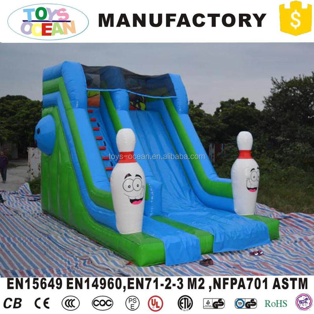 medium inflatable bowling mattress with slide jump house