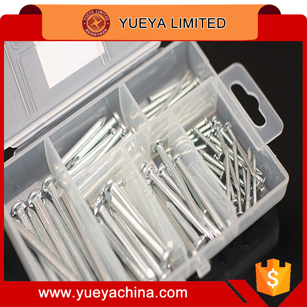 household nails screws tools box storage box with 6 kinds of fixing parts