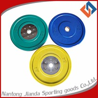high quality olympic rubber bumper weight plate