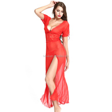 Exotic Apparel Sexy Lingerie Set For Women Baby Dolls Long Exotic Red Dresses V-neckline Sexy Costumes