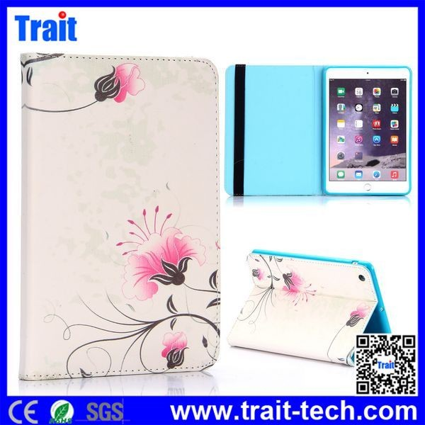 Factory Price Side Flip Stand TPU PU Leather Case for iPad Mini 3/ iPad Mini 2 Retina / iPad Mini