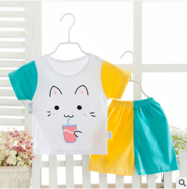 New style baby cotton suits short sleeve summer infant clothing sets