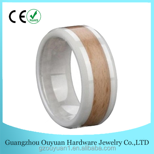Ceramic Stainless Ring with Brown Veneer for Girls New Hot Animal Sex with Woman Silver Ceramic Ring