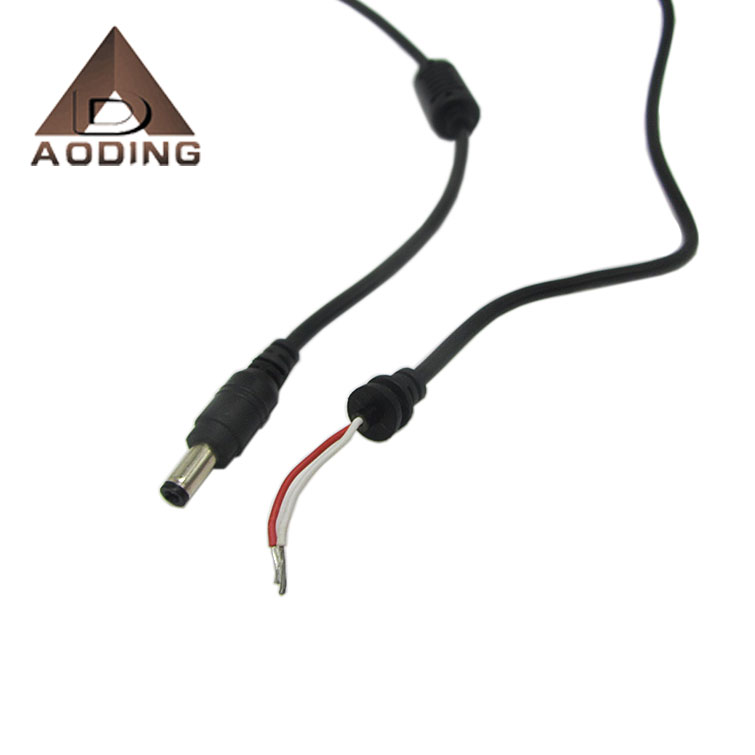 2.1x5.5mm Ferrite ring DC male power plug cable