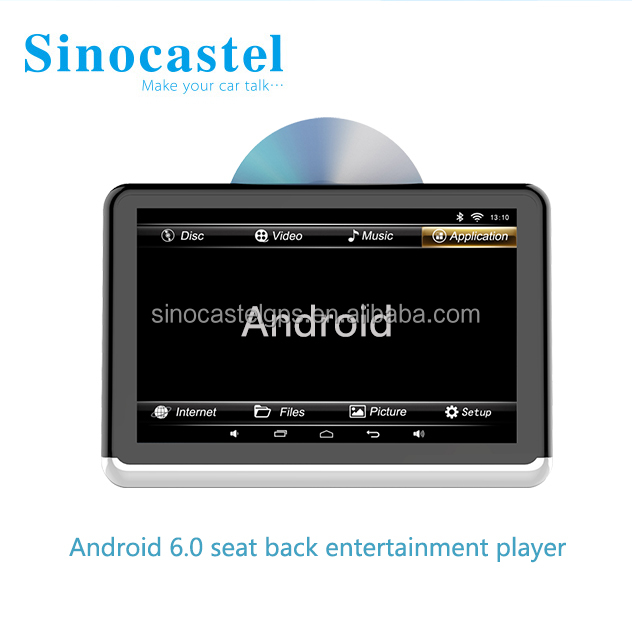 2017 new 10.1inch headrest monitor android car dvd player