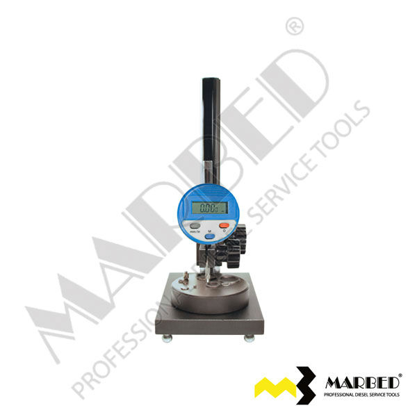 Micron measuring station for common rail injector shims