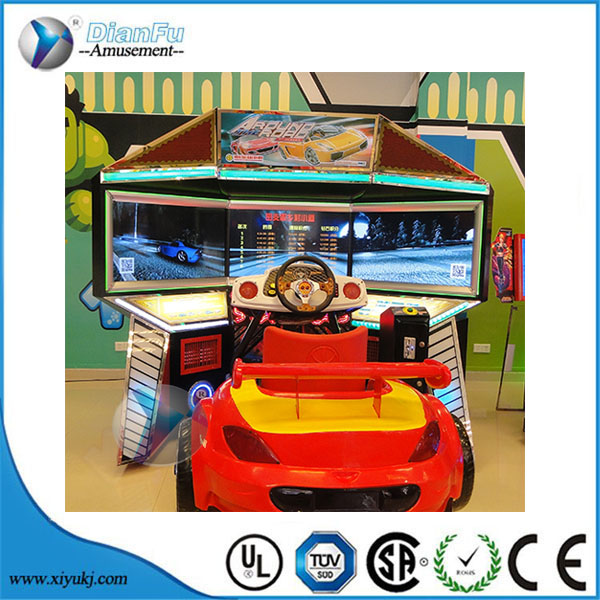 42 inch LCD 3 screens coin pusher arcade kids grown ups simulator exciting real driving machine
