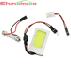 DC 12V T10 Festoon Adapter 24chips White Lighting COB LED Dome Light for Car Auto