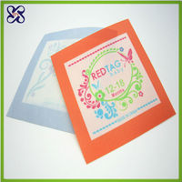 colorful of pillow printed label