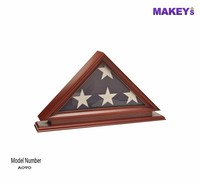 MKY Solid Wood Memorial Flag Case