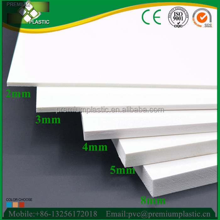 Premium high density 4x8ft closed cell pvc foam sheet with different <strong>thickness</strong>