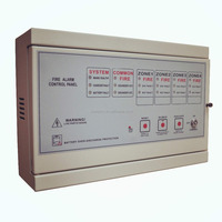Fire conventional 4 zone fire alarm annunciator panel