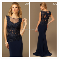 Navy Blue Lace Custom Made Floor Length Long Formal Prom Evening Dresses Designs CP118 western long gowns party dresses