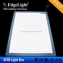 Edgelight AF49 ultra thin 8mm led panel display, 300*300 , 600*600mm customized led flat panel lighting ,CE/ROHS led light panel