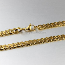 High Quality Stainless Steel Gold Plated Curb Chain Wedding Occasion Chain For Women